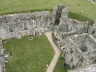 Portchester Castle - View of the Norman Keep inside strong Roman Walls